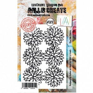 AALL and Create A7 Stamp Set #309 - Pom Pom Flowers