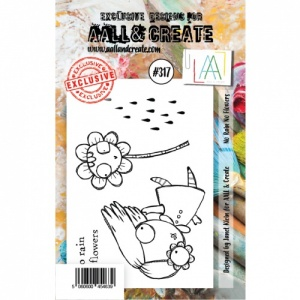 AALL and Create A7 Stamp Set #317 - No Rain No Flowers