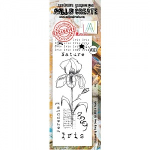 AALL and Create Border Stamp #333 - Iris