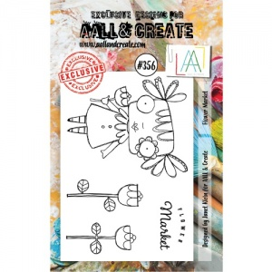 AALL and Create A7 Stamp Set #356 - Flower Market