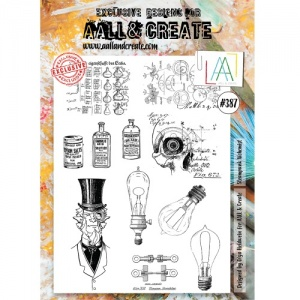 AALL & Create A4 Stamp #387 - Steampunk Alchemist