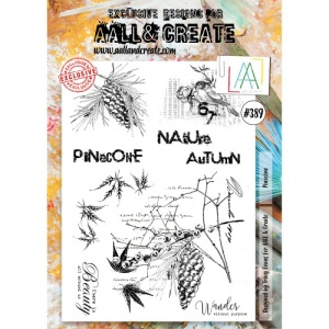 AALL & Create A4 Stamp Set #389 - Pinecone
