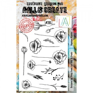 AALL & Create A5 Stamp Set #395 - Papaver Poppies