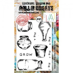 AALL & Create A6 Stamp Set #401 - Containers