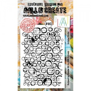 AALL and Create Stamp Set #443 - Scripted Circles