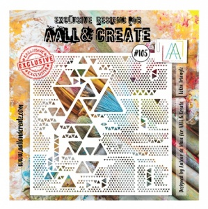 AALL and Create Stencil #105 - Lotsa Trianglz