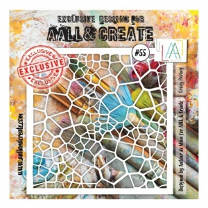 AALL and Create Stencil #55 - Crazy Paving