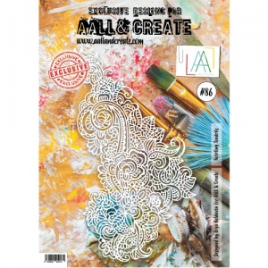 AALL and Create Stencil #86 Twirling Tendrils