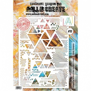 AALL & Create A4 Stencil #99 Totally Triangular