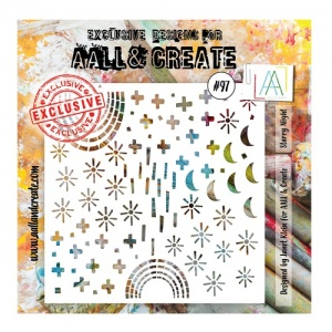 AALL and Create Stencil #97 - Starry Night
