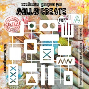 AALL & Create 6 x 6 Stencil #107 - Components