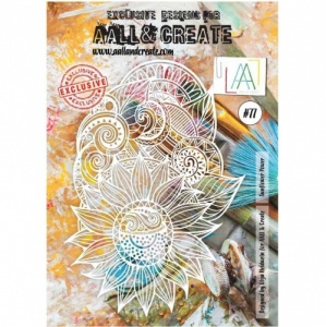AALL and Create Stencil #77 - Sunflower Power