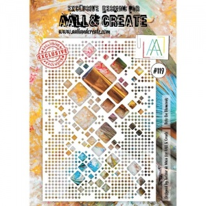 AALL & Create A4 Stencil #119 - Dote on Diamonds