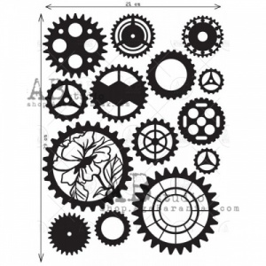 AB Studio Chipboard - Cogs