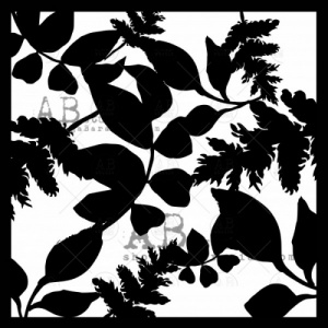 AB Studio Stencil - ID206 - Leaves