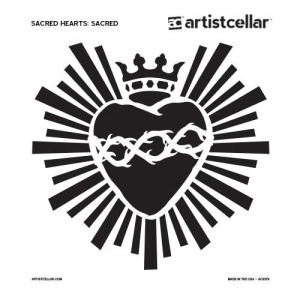 Artistcellar Stencil - Scared Hearts Series - Sacred