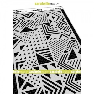 Carabelle Studio A4 Stencil - Composition with Triangles by Alexi - TE40116