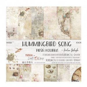 Craft O'Clock 12x12 Paper Pack - Hummingbird Song