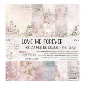 Craft O'Clock 12x12 Paper Pack - Love Me Forever