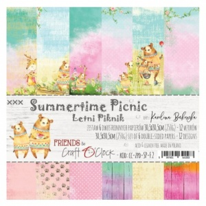 Craft O'Clock 12x12 Paper Pack - Summertime Picnic