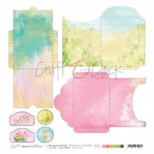 Craft O'Clock Sheet of Extras - Envelopes - Summertime Picnic