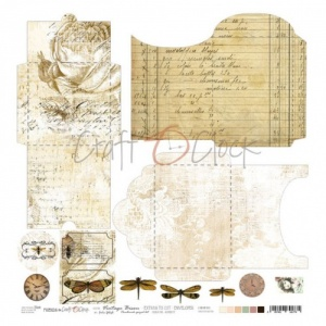 Craft O'Clock Sheet of Extras - Envelopes - Vintage Bisou