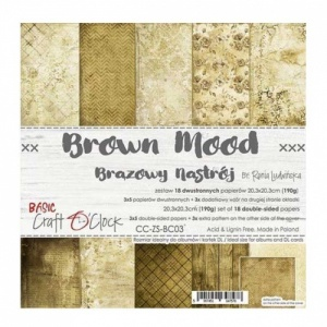 Craft O'Clock 8x8 Paper Pack - Brown Mood