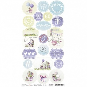 Craft O'Clock Die Cut Sheet - Spring Bustling