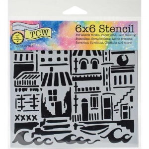 Crafter's Workshop Stencil - Floating City - TCW749S