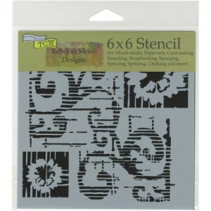 Crafter's Workshop Stencil - Flower Scroll - TCW769S