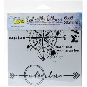 Crafter's Workshop Stencil - Wanderlust - TCW744S