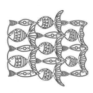 Creative Muse Designs Mask - Fish Line