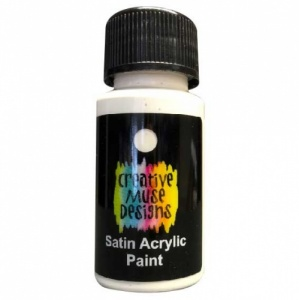 Creative Muse Designs Satin Paint - White
