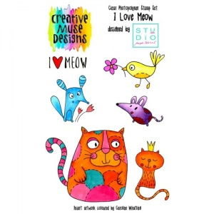 Creative Muse Designs A6 Clear Stamp Set - I Love Meow