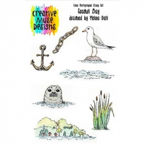 Creative Muse Designs Clear Stamp Set - Seagull Bay