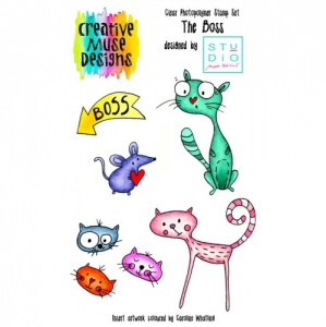 Creative Muse Designs A6 Clear Stamp Set - The Boss