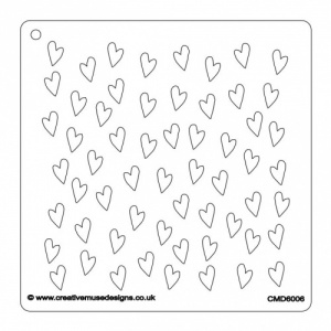 Creative Muse Designs Stencil - Lots of Hearts