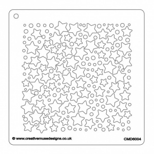 Creative Muse Designs Stencil - Lots of Stars