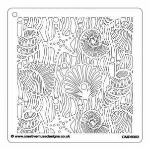Creative Muse Designs Stencil - Shells and Starfish