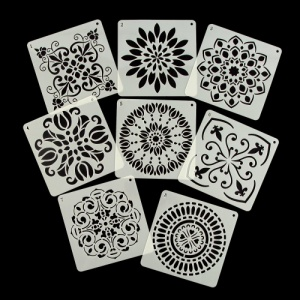 Daily Art Set of 8 Mandala Stencils - Set B