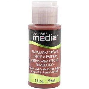 DecoArt Media Antiquing Cream - English Red Oxide