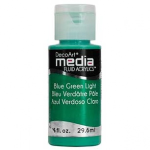 DecoArt Media Fluid Acrylic Paint - Blue Green Light