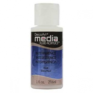 DecoArt Media Fluid Acrylic Paint - Blue Interference