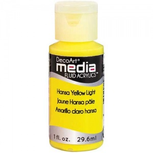 DecoArt Media Fluid Acrylic Paint - Hansa Yellow Light