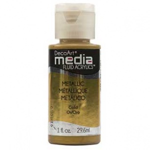 DecoArt Media Fluid Acrylic Paint - Metallic Gold