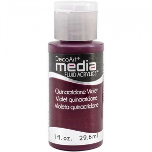 DecoArt Media Fluid Acrylic Paint - Quinacridone Violet