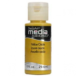 DecoArt Media Fluid Acrylic Paint - Yellow Oxide