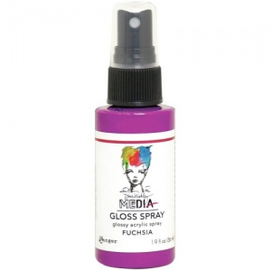 Dina Wakley Gloss Spray - Fuchsia