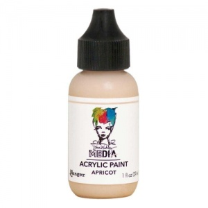 Dina Wakley Media Heavy Body Acrylic Paint - Apricot - 1oz