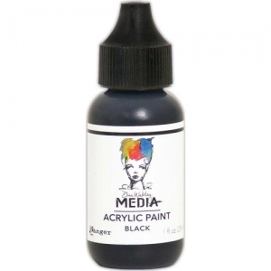 Dina Wakley Media Heavy Body Acrylic Paint - Black - 1oz